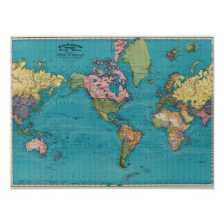 World Mercator s Projection Posters
