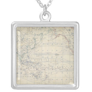 World Mercators project Silver Plated Necklace