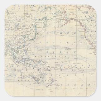 World Mercators project Square Sticker