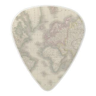 World, Mercator's Projection 2 Acetal Guitar Pick