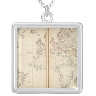 World, Mercator's projection 2 Necklaces