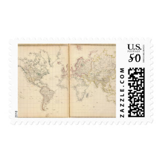 World, Mercator's projection 2 Postage