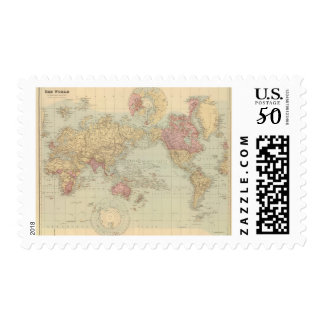 World Mercator's projection 2 Postage