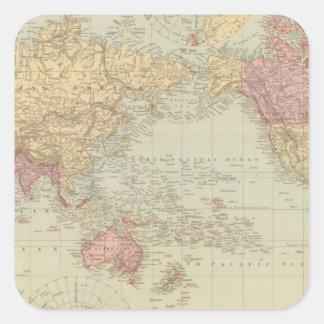 World Mercator's projection 2 Square Sticker