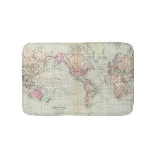 World, Mercator's projection Bath Mats