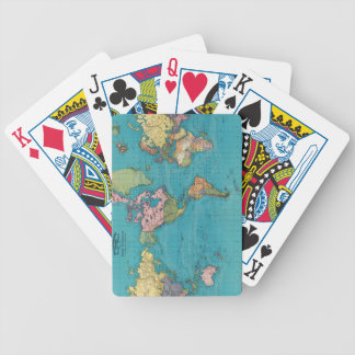 World, Mercator's projection. Bicycle Playing Cards