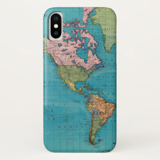 World, Mercator's Projection iPhone X Case