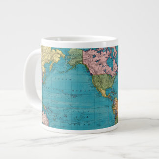 World, Mercator's Projection Large Coffee Mug