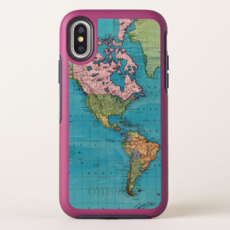 World, Mercator's Projection OtterBox Symmetry iPhone X Case