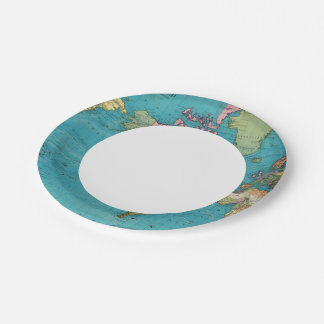 World, Mercator's Projection Paper Plate