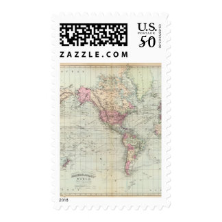 World, Mercator's projection Postage