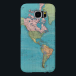 "World, Mercator&#39;s Projection Samsung Galaxy S6 Case<br><div class=""desc"">World,  Mercator&#39;s projection. By Rand McNally and Company (189). Published by &#39;&#39;Chicago: Rand McNally&#39;&#39;.</div>"