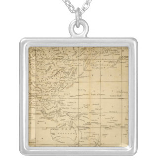 World Mercator's projection Silver Plated Necklace
