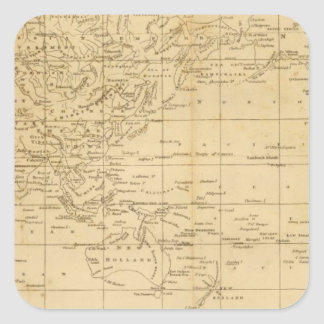 World Mercator's projection Square Sticker