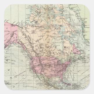 World, Mercator's projection Square Sticker