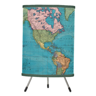 World, Mercator's Projection Tripod Lamp