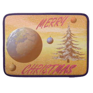 world merry christmas sleeve for MacBook pro