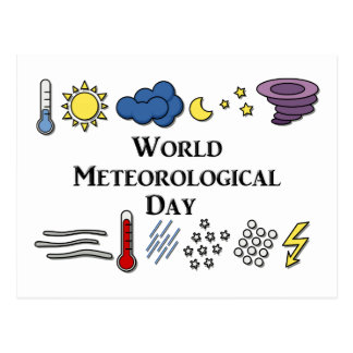 World Meteorological Day Postcard