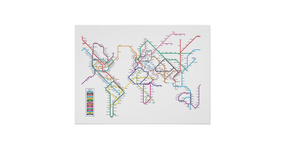 World metro subway map poster zazzle gumiabroncs Gallery