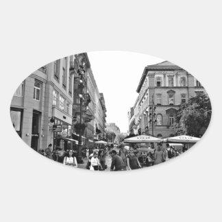 """""""World modern art photographer most famous """" Oval Sticker"""