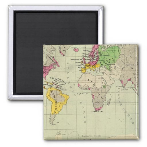 World, Moravia missions 2 Inch Square Magnet