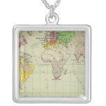 World, Moravia missions Square Pendant Necklace