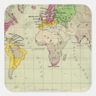 World, Moravia missions Square Sticker