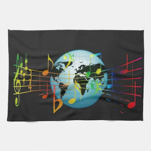 World Musical Notes Hand Towel