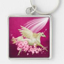 fantasy, keychain, fairy, love, you, fun, wedding, shower, birthday, unicorn, Keychain with custom graphic design
