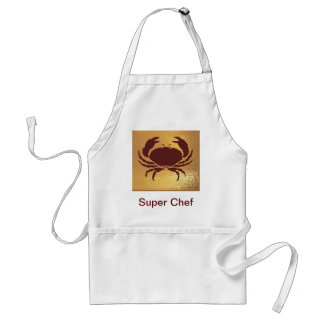 World of children - frogs, crabs, animal fam adult apron