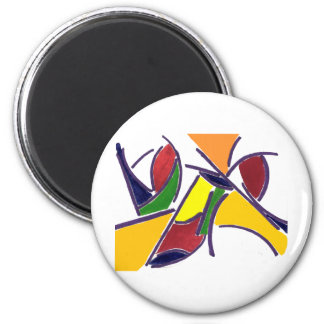 World of Color 2 Inch Round Magnet