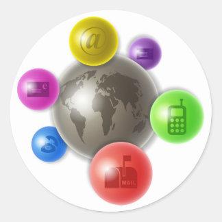 World of Communication Classic Round Sticker