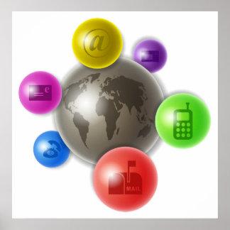 World of Communication Poster