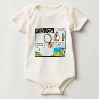 World of Cow; ant cows, text-grazing and barbeque Baby Bodysuit