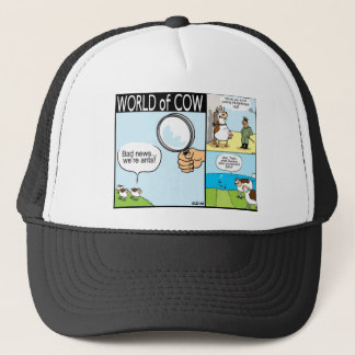 World of Cow; ant cows, text-grazing and barbeque Trucker Hat