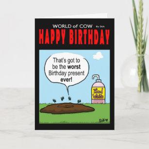 World worst cards zazzle world of cow birthday card m4hsunfo