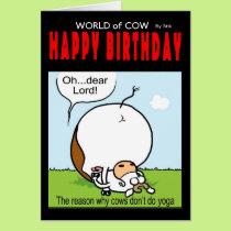 World of cow birthday card - Oh...dear lord!