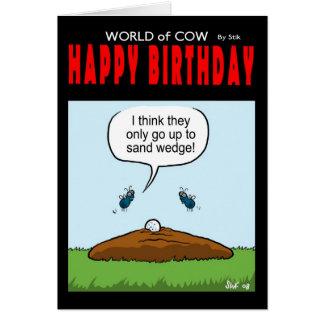 World of Cow Birthday Card Sand Wedge