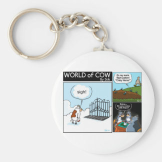 World of Cow collection:Heavens Gate Basic Round Button Keychain