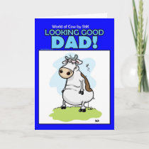 World of Cow Fathers day card
