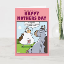 World of cow Mothers day card