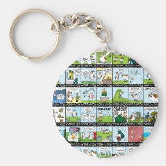 World of Cow Wallpaper Basic Round Button Keychain