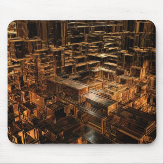 World of cubes mouse pad