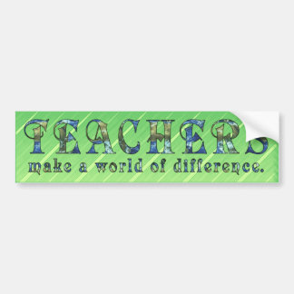 World of Difference Bumper Stickers