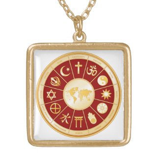 World of Faith Gold Plated Necklace