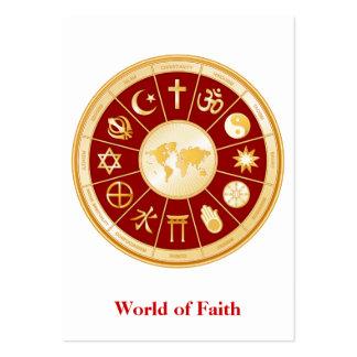 World of Faith Large Business Card