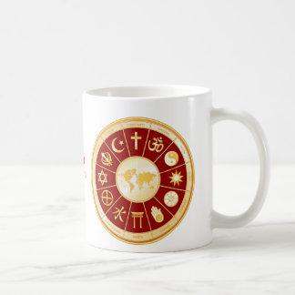 World of Faith Mandala Classic White Coffee Mug