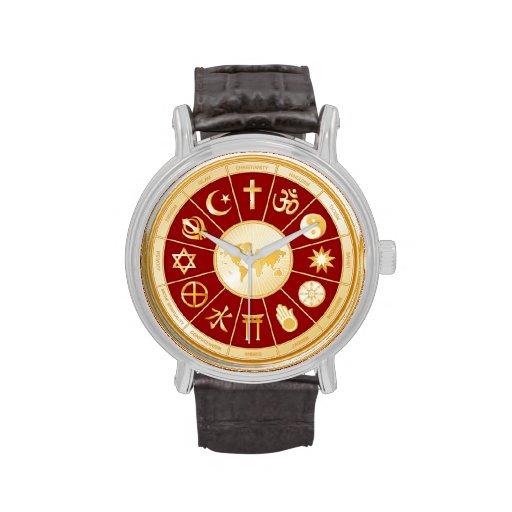 Mehndi Wrist Watch : World of faith mandala wrist watches zazzle