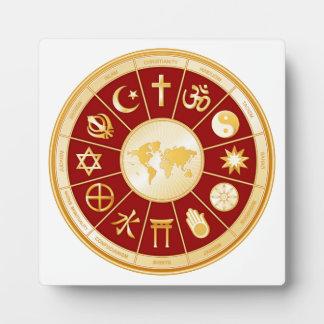World of Faith Plaque