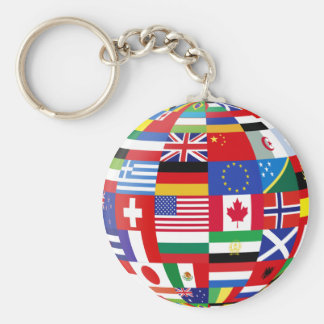 World of flags key chain